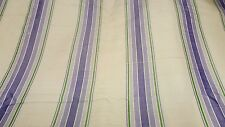 "Vintage Striped Raw Silk Fabric 8 Yards 30"" Wide Cream Purple Broadcloth"