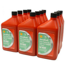 Aeroshell W100 Oil. Case (12 Quarts)