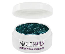 UV Gel 15 ml Glittergel Glitter Ocean-Green 03