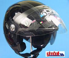 """IXS Casco Jet HX 85 """"PILOT"""" Taglia S 57/58 Casco per scooter con visiera"""