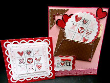 Stampin Up retired stamp I LOVE heart YOU Valentine's Day fits Curly Label Punch