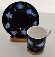 Mrs. Delany's Flowers Demitasse Cup & Saucer BLUE Sybil Connolly for Tiffany