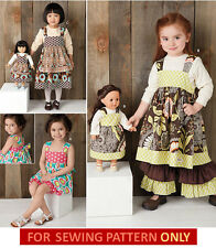 SEWING PATTERN! MAKE GIRL~DOLL MATCHING BOUTIQUE STYLE DRESS! FITS AMERICAN GIRL