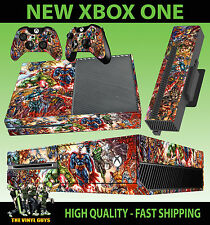XBOX ONE CONSOLE STICKER MARVEL DC ACTION HERO SUPERHERO SKIN & 2 PAD SKINS