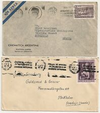 2 COVERS ARGENTINE ARGENTINA TO STOKHOLM SWEDEN. L632