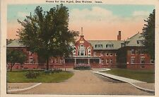 Home for the Aged in Des Moines IA Postcard 1923