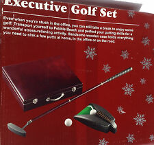 Executive Travel Putter Set in Wood Case