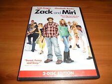 Zack and Miri  (DVD, 2009, 2-Disc Widescreen) Seth Rogen, Used (Make A Porno)