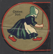 AUTHENTIC 1938 OLD DUTCH CLEANSER DECAL or TRANSFER UNUSED + NOW FREE SHIP AD33