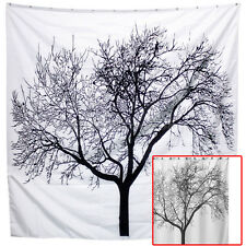 Simple Black Scenery Tree Bathroom Waterproof Fabric Shower Curtain 180cm th1u