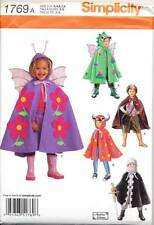 SIMPLICITY SEWING PATTERN 1769 BOYS/GIRLS 3-8 COSTUME CAPES: DRAGON KNIGHT FAIRY