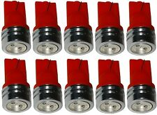 10x ampoule T10 W5W 12V LED rouge veilleuses éclairage intérieur seuils coffre