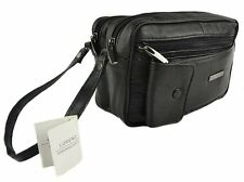TAXI, BLACK LEATHER MAN BAG, COIN HOLDER, CHANGE CASH BAG, DISPENSER TAXI DRIVER