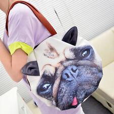 Mops außergewöhnliche Handtasche Tasche Damenhandtasche 3D Neu