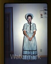 1960s 35mm  Kodachrome Photo slide Lady in old fashioned dress