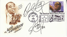 BEN E KING hand signed 1995 FDC FDOI first day cover - Louis Armstrong cover