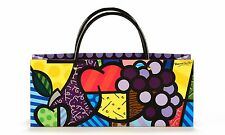 ✿ ROMERO BRITTO ✿ PAPER WINE BOTTLE BAG: GRAPE  ** NEW **