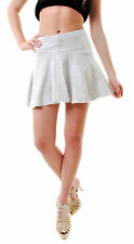 Free People Women's  Sunshine Smile Tweed Skirt Ivory Size 2 RRP £66 BCF66