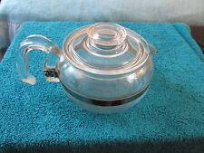 Vintage Pyrex Glass Flameware Tea Kettle - Coffee Pot Teapot 6 Cup 8446B