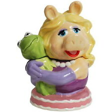 The Muppets Miss Piggy Hugging Kermit Ceramic Cookie Jar, 2012 NEW UNUSED