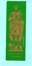 Bookmark Medieval Knight Brass Rubbing Robert the Bruce King of Scots Xmas Gifts