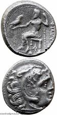 ANCIENT GREEK SILVER DRACHM COIN ALEXANDER THE GREAT