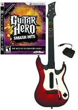 NEW PS3 Wireless Guitar Hero 5 Guitar & GH Smash Hits Game Bundle Kit RARE