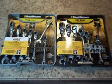 GearWrench 14 Pc SAE & METRIC Ratcheting Combination Flex Head Wrench Set! #9900