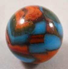 "RARE HUGE PELTIER NATIONAL LINE RAINBO SUPERBOY MARBLE 27/32"" (.835"") Impressive"