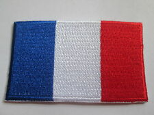 France (French) embroidered patch,  iron or sew on. 80 x 48mm P006