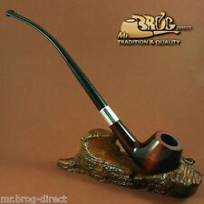 "OUTSTANDING Mr.Brog original HAND MADE long smoking pipe nr.59 brown SW ""HOBBIT"""