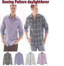 Men Western Rodeo Casual Shirt L/S Button Front Sewing Pattern 1544 New 44-52 q