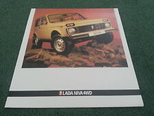 1984 1985 1986 LADA NIVA 4x4 - UK 6 PAGE COLOUR FOLDER BROCHURE