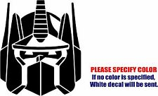 Optimus Prime Head Decal Sticker JDM Funny Vinyl Car Window Bumper Truck Wall 9""