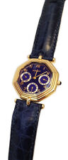OROLOGIO CHRONOSTAR CADET UNISEX OTTAGONALE PLACCATO ORO DATA WATCH GOLD PLATED