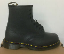 DR. MARTENS 1460  BLACK NOIR SCOTCHGRAIN  LEATHER  BOOTS SIZE UK 10