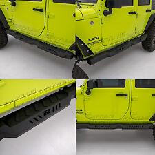 07-17 Jeep JK Wrangler 4 Door Side Armor Rocker Guard Rock Slider Running Board