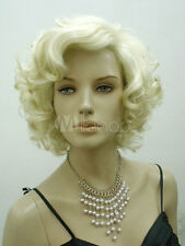 Hot Fashion wig New Charm women's short Platinum Blonde Curly Natural Hair wigs
