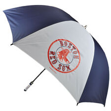 "MLB Boston Red Sox Fiberglass Shaft Umbrella 62"" Rain Id Handle Fan Navy White"