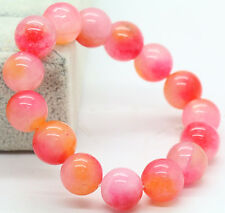 12mm Natural Jade Jadeit Round Beads Gemstone Stretch Bracelet