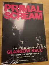 Primal Scream - Rare gig poster, Glasgow - Dec 2008