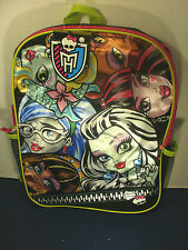 MONSTER HIGH~Full-Size SHINY  SCHOOL BACKPACK~NWT~Awesome!!