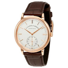 A. Lange and Sohne Saxonia Automatic White Dial Mens Watch 380.033
