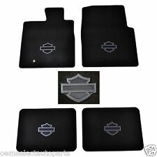 OEM NEW 2004-2008 Ford F-150 Harley Davidson Logo Black Carpet Floor Mats SET