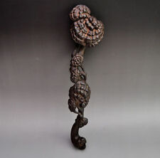 Vintage Chinese Boxwood Carved Ruyi Scepter Lucky Statue