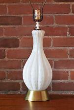 Mid Century Murano art glass table lamp controlled bubble gold flecks