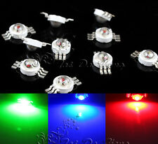 10pcs 3W RGB LED 3 CHIP 6 Pin Bead Superbright LED Lamp Without board Star Light