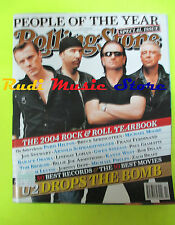 ROLLING STONE USA MAGAZINE 965/2004 U2 Paris Hilton Bob Dylan Springsteen No cd