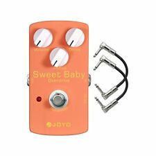 Joyo JF-36 Sweet Baby Low Gain Overdrive Guitar Effect Pedal w/ 2 Patch Cables