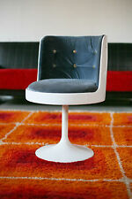 TRUE VINTAGE 70er Jahre TULIP SESSEL Space Age 70er Lounge Chair weiß 70s Samt